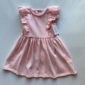 Carters pink eyelet dress with diaper cover